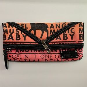 LAMB Gwen Steffani Fold-over Clutch PVC Black Pink
